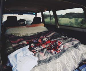 bed, car, and sweet life image