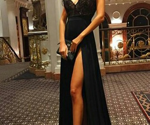 black, heels, and Hot image