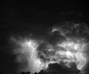 clouds, storm, and thunder image