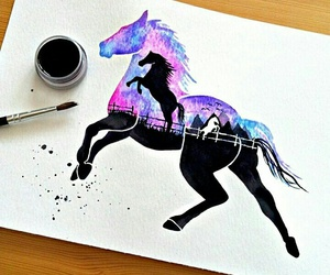 horse, art, and painting image