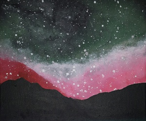 acrylic, mountain, and painting image