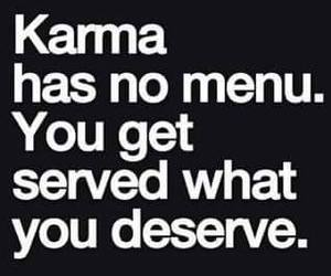 karma, quote, and menu image