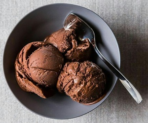 chocolate, ice cream, and food image