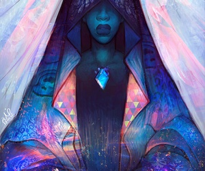 blue and blue diamond image