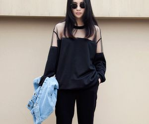 black, fashion, and haïr image
