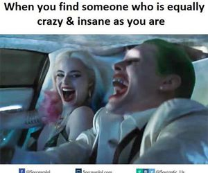 crazy, love, and harley quinn image