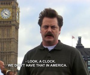 london, clock, and america image