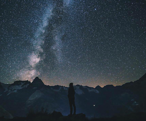 milky way, summer time, and night image