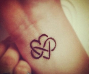 heart, tattoo, and infinity image