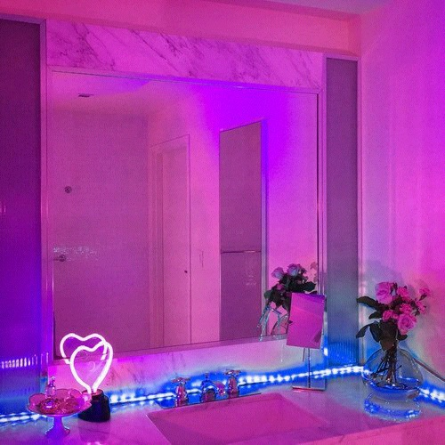lilac, mirror, and room image