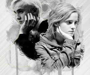 dramione, emma watson, and harry potter image
