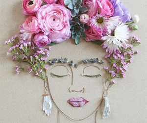 flowers, art, and frida kahlo image