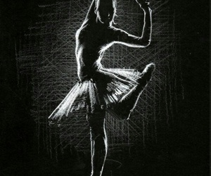 art, dancer, and drawing image