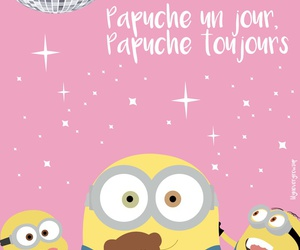 background, minions, and pink image