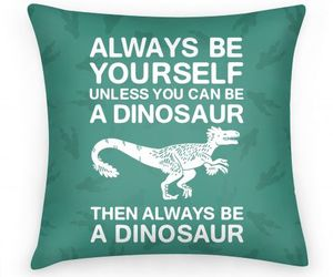 be yourself, blue, and dinosaur image