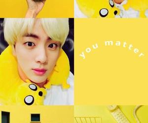 aesthetic, jin, and yellow image