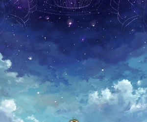 anime, clouds, and sky image