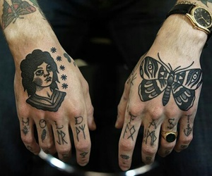 tattoo, boy, and hands image