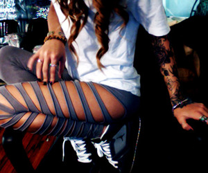 swag, leggings, and tattoo image