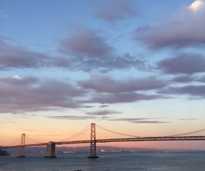 bay area, bay bridge, and clouds image
