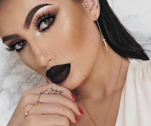 beautiful, kylie jenner, and black lips image