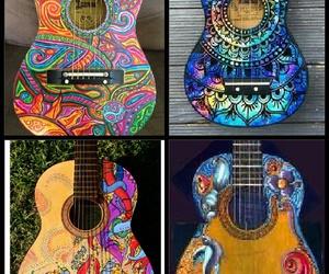 decoracion, dibujo, and guitarra image