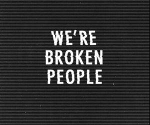 broken, black, and quotes image