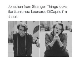 black and white and stranger things image