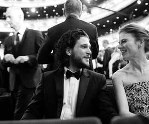 kit harington, rose leslie, and game of thrones image