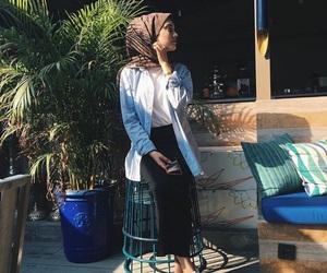 green, hijab, and muslim image