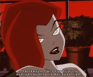 quotes, poison ivy, and cartoon image