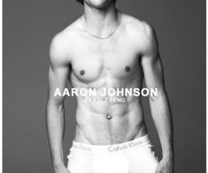 aaron johnson, muscles, and pecs image
