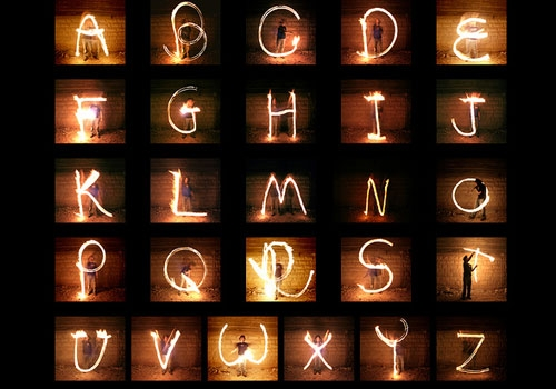 light, alphabet, and typography image
