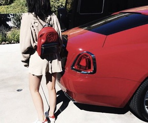 kylie jenner, car, and red image