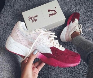 shoes, claret red, and white image