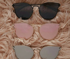 pink, black, and sunglasses image