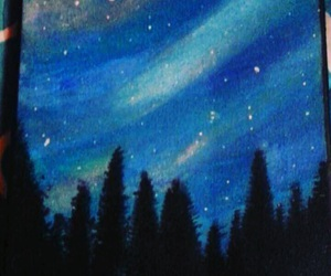 artist, blue, and trees image