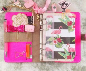 agenda, floral, and notes image
