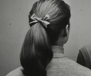 hair, vintage, and b&w image