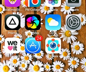 iphone, wallpaper, and apps image