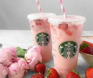 drink, food, and pink image