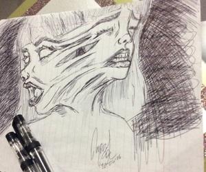 anger, black, and black&white image