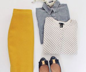 fashion, mustard, and outfit image