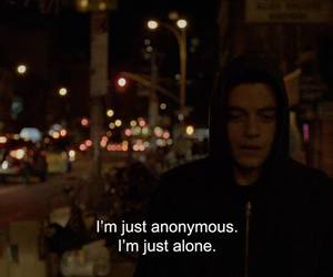 alone, anonymous, and quotes image
