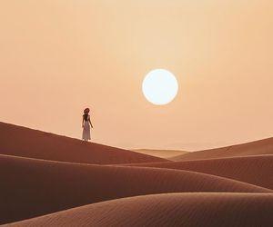 travel, desert, and sunset image