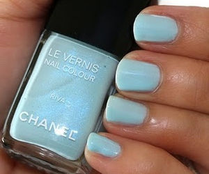 blue, nails, and chanel image