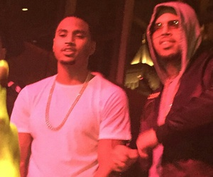 chris brown, daddy, and trey songz image