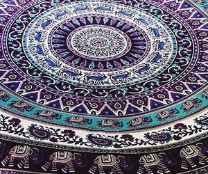 blue, pattern, and purple image