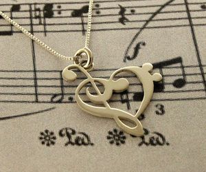 music and necklace image