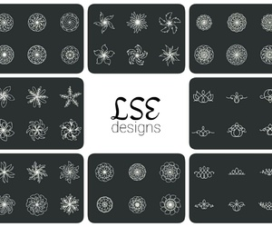elements, floral, and flowers image